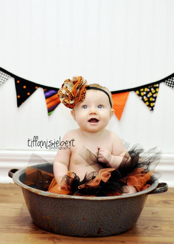 Halloween Tutu, Black and Orange Tutu, Halloween photo prop, Photo Prop, Baby Toddler Child Tutu