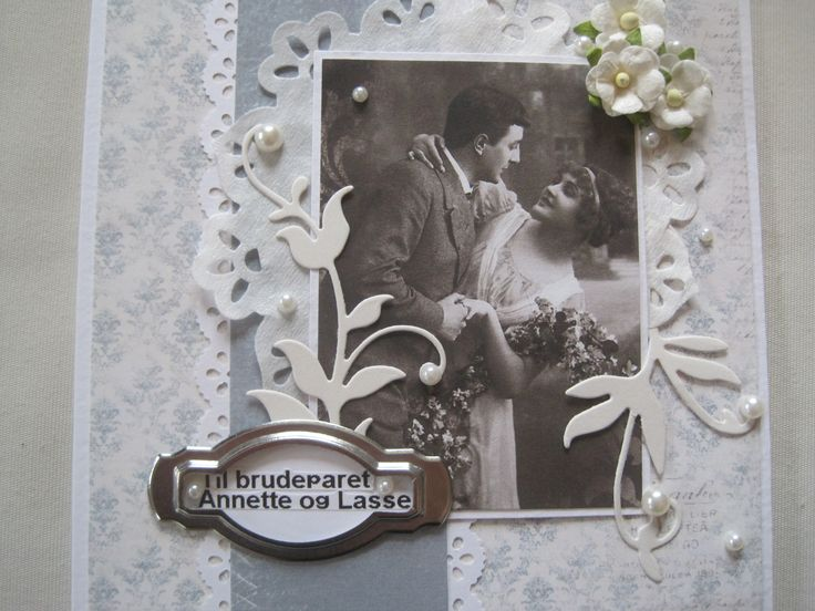 Handmade wedding card