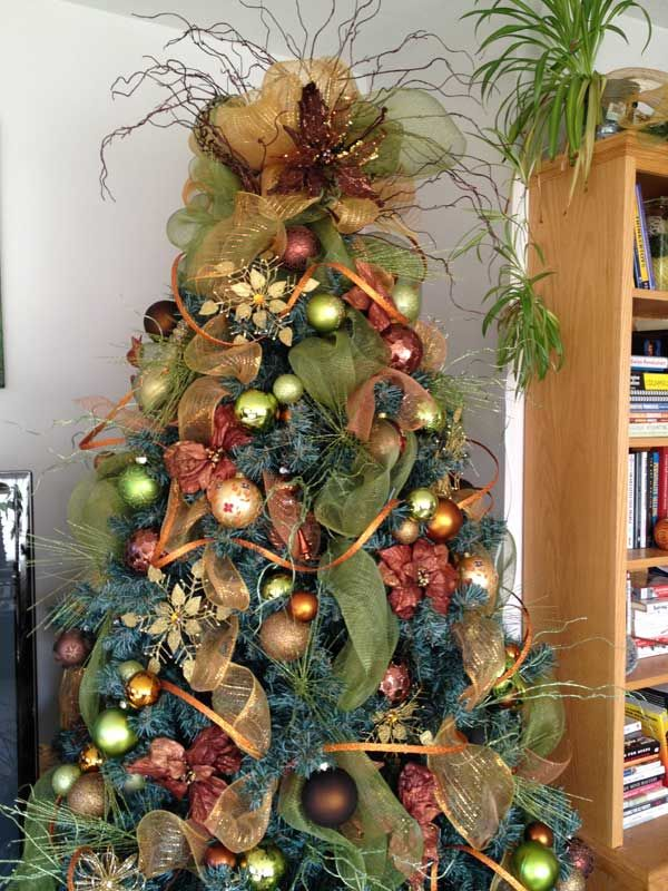 Christmas Tree Decorating Tutorial   (looking For Tree Topper Ideas)