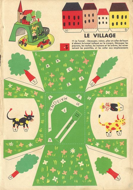 Atividades antigas  – um monte de brinquedo de papel para imprimir e montar | Vintage crafts – lots of great toys to print and make!