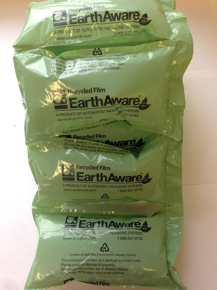 #EarthAware airpillows are an environmentally friendly packaging alternative to polystyrene peanuts.