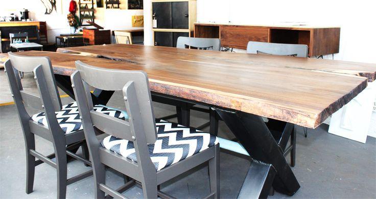 16 best live edge wood slabs images on pinterest live edge wood wood slab and wooden surfboard - Dining room furniture denver ...