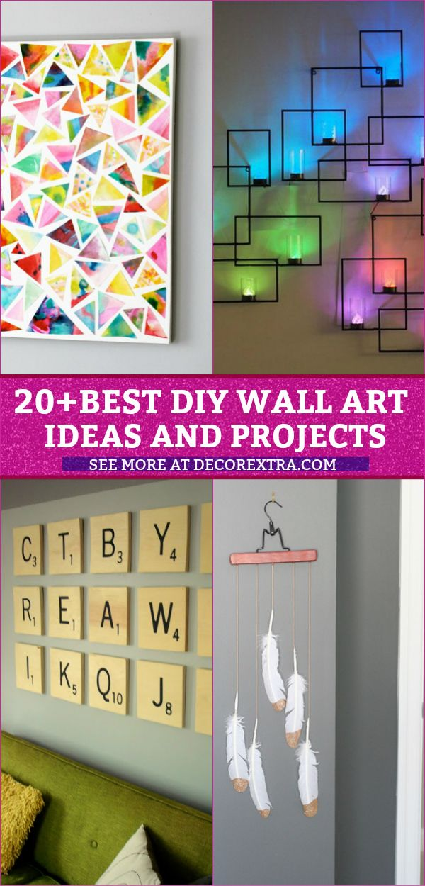 30 Best Diy Wall Arts For Your Home Decor Wall Art Diy Easy Diy Wall Decor For Bedroom Diy Wall Art