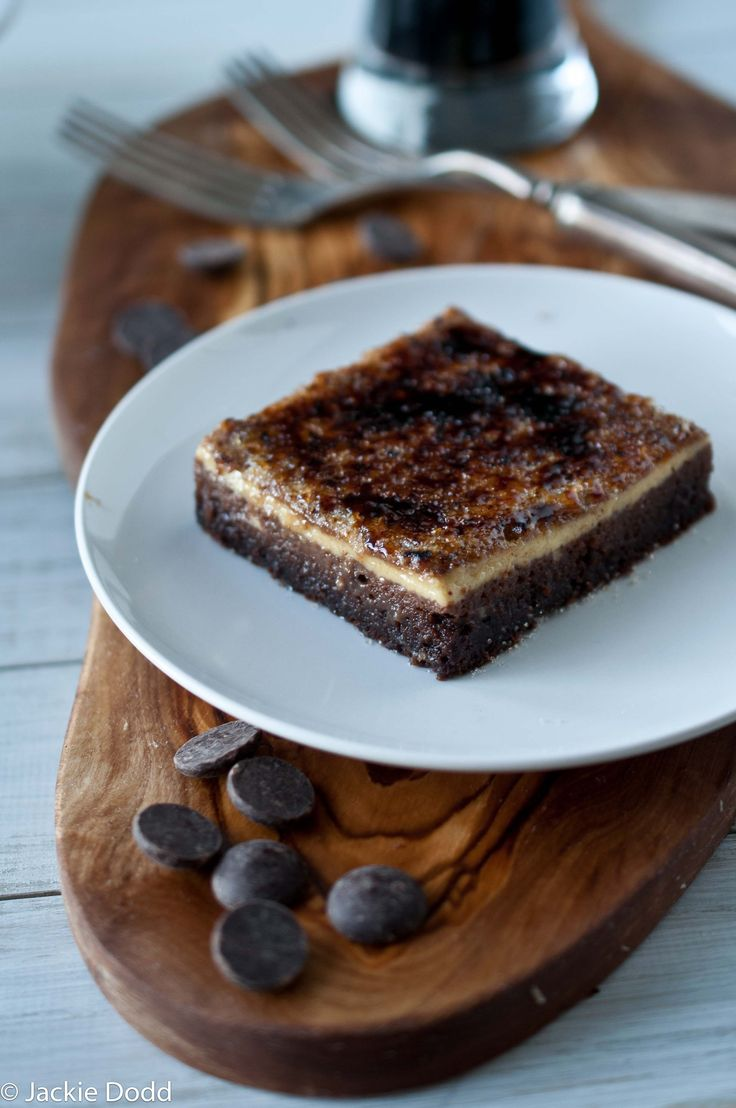 Creme Brulee Topped Chocolate Stout Brownies | @Jackie Dodd {Domestic Fits} thebeeroness.com
