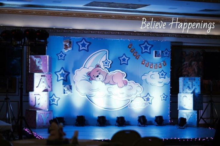 Teddy theme baby shower. Backdrop, light effects,3D, props, creativity.