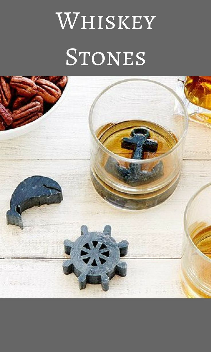 Simply freeze the recycled soapstone shapes and place them in a glass of whiskey, scotch, or your favorite liquor to chill the drink without watering it down. | LOVE the idea of not using ice and these are awesome looking! #homedecor #farmhouse #rustic #countrystyle #whiskey #drinks #ice #liquor #cocktails #affiliate