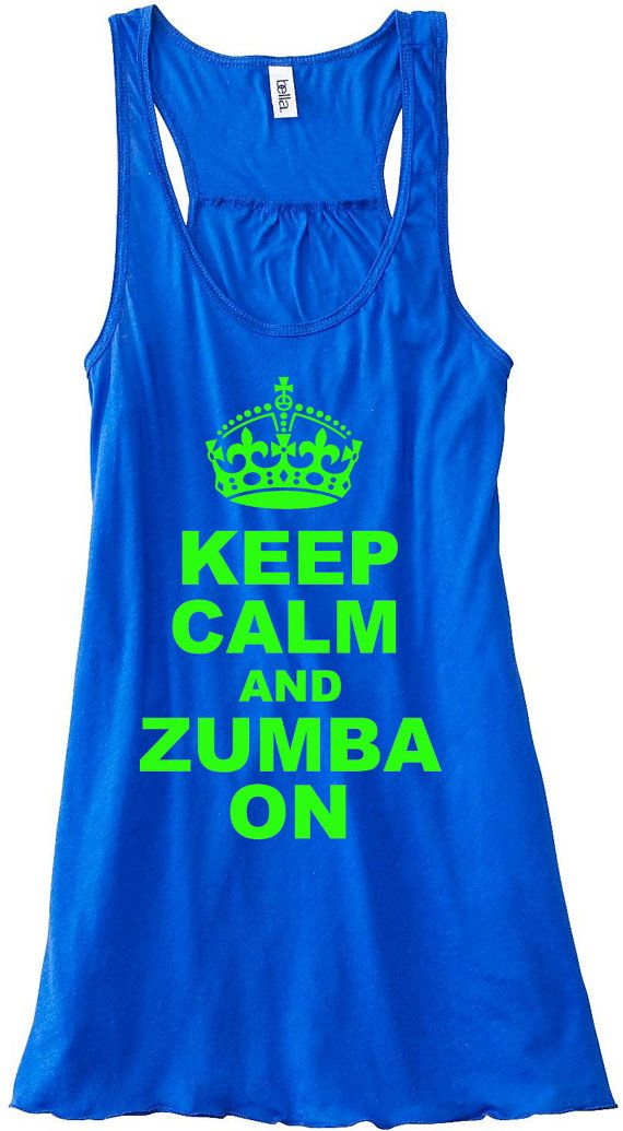 Keep Calm and Color Zumba On Gym Tank Top by sunsetsigndesigns, $24.00 @Brittany Horton Horton Horton Horton Horton Tassias for zumba classss we could match. We should get one for spin too