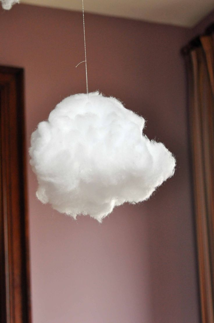 How to make puffy clouds! I am dying to try this and hang happy rain drops from it! :D