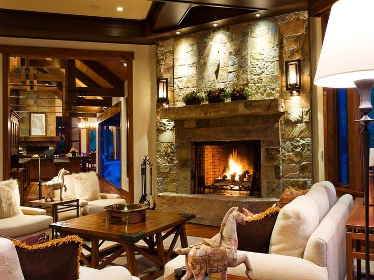 Well Lit Fireplace With Cozy Furniture Gentlemen 39 S