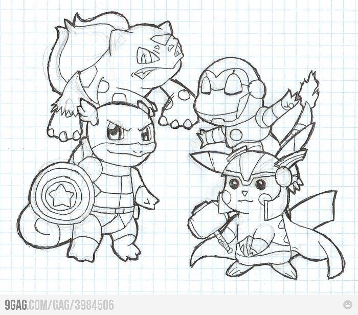 pokemon avengers!! gotta catch em all!!