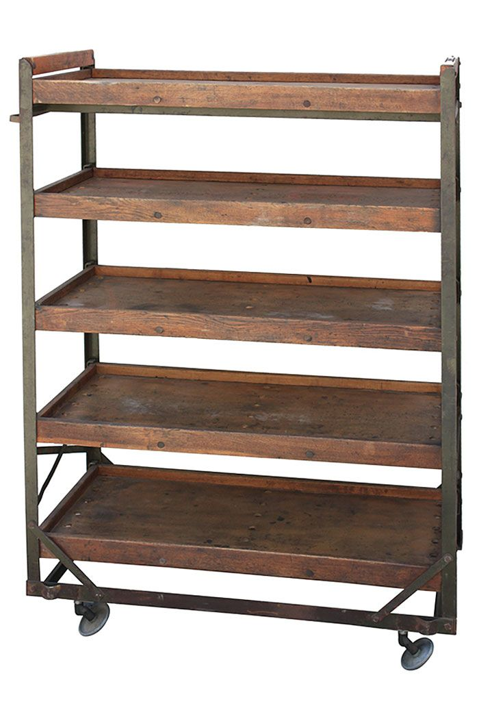 Vintage Trend Alert: 8 Vintage Industrial Baker's & Shoe Racks  - Vintage And Flea - The lastest Vintage style, collecting, Midcentury Antiques, Junktiques