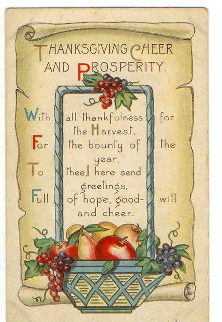 vintage thanksgiving postcards | Vintage Thanksgiving Postcard | Flickr - Photo Sharing!: