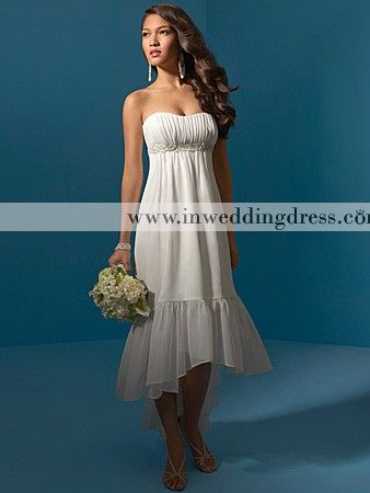 Beach Wedding Dress; It's really cute I might think it more a brides maid dress than an actual wedding dress, though...