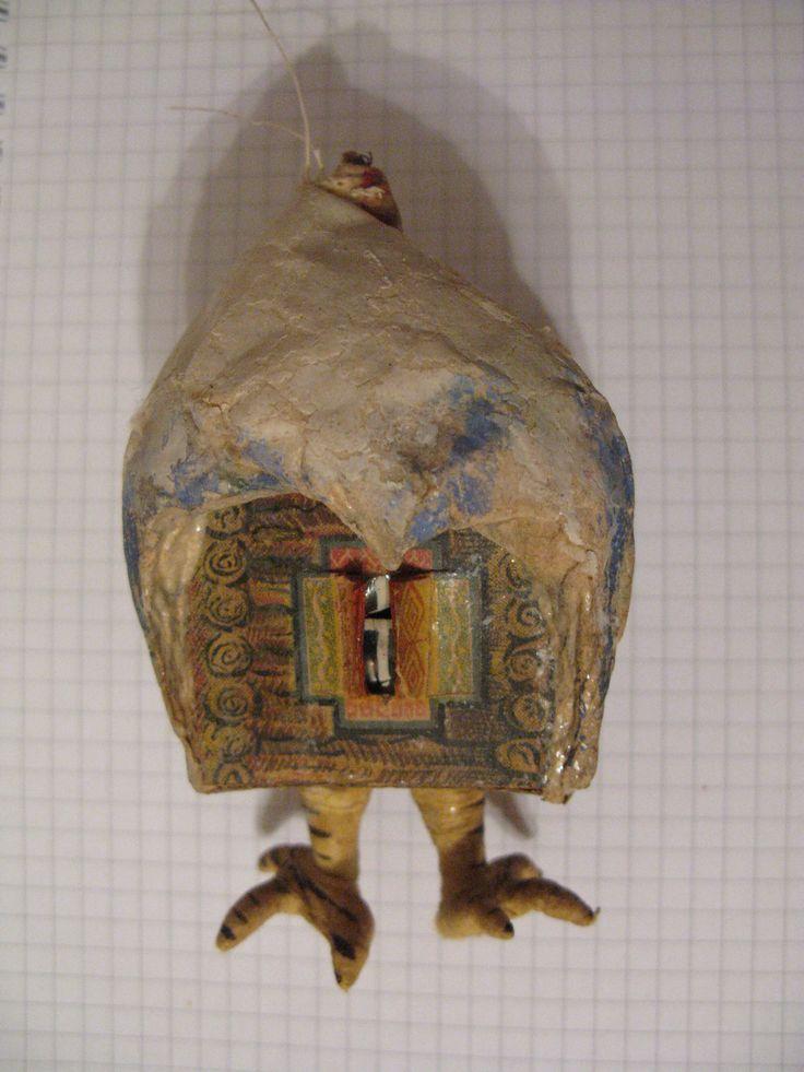 Елочная игрушка Избушка на курьих ножках редкая. вата
