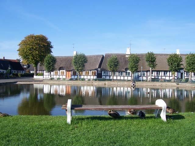 Beautiful village environment on Samsø Island in Denmark