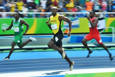 #BREAKING News: Nigeria's Oduduru Finishes 2nd to Usain Bolt as He Qualifies for 200m Semis in Rio #vibes247