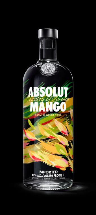 Absolut Vodka Revamps FlavorRange - The Dieline - Haven't tried the Mango yet...
