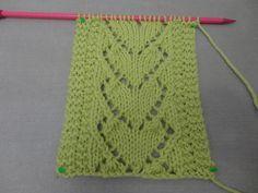 Ponto de tricô coração                                                       …