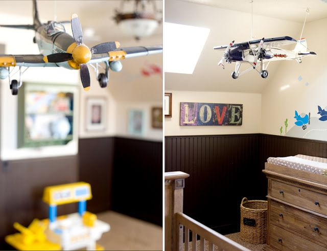 Airplane Nursery Airplane Room Decor Airplane Nursery