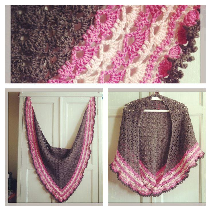 South Bay Shawlette, scarf, Crochet. Omslagdoek, haken