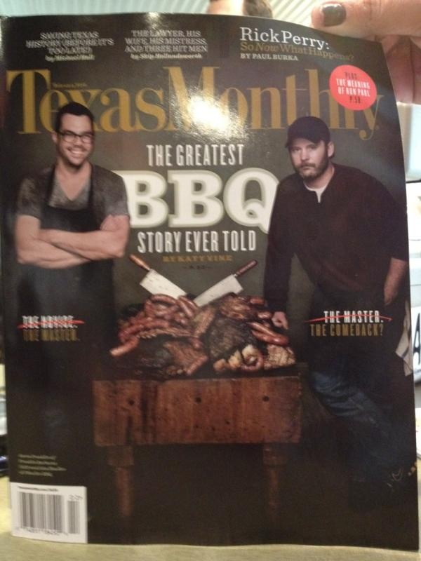 Texas Monthly, Aaron Franklin and John Mueller.