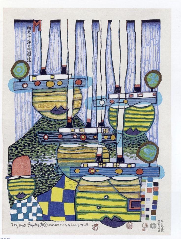 Friedensreich Hundertwasser:  Pacific Steamer (1985)
