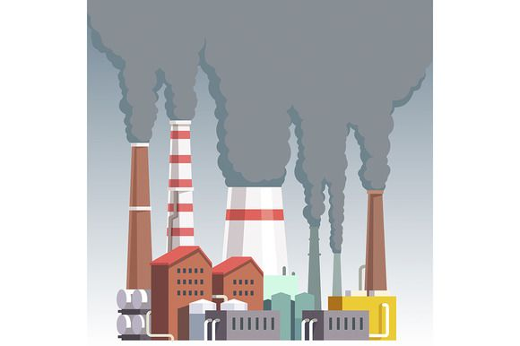 Highly polluting factory plant @creativework247