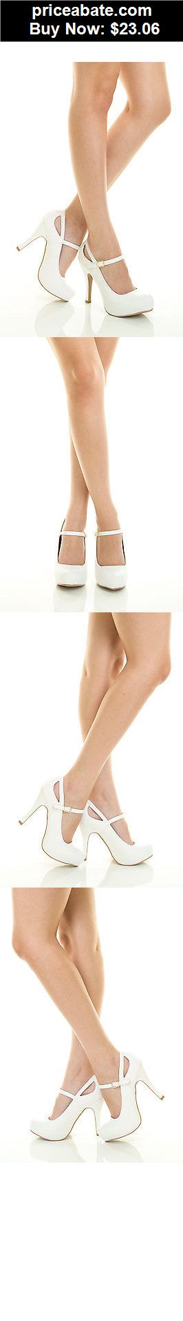 Wedding-Shoes-And-Bridal-Shoes: White Closed Toe Mary Jane Stiletto Heel Platform Bridal Wedding Dress Pump 5.5 - BUY IT NOW ONLY $23.06