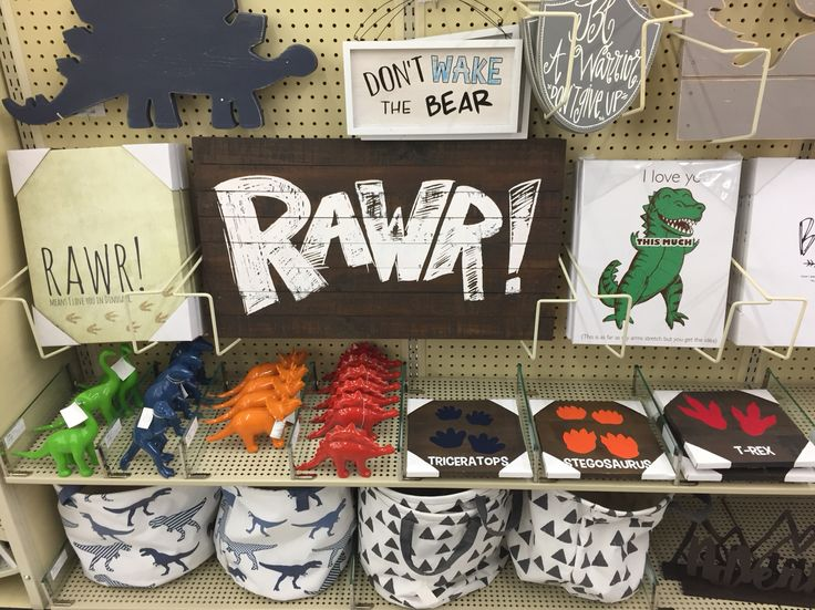 Love this little boy/dinosaur stuff - Hobby Lobby
