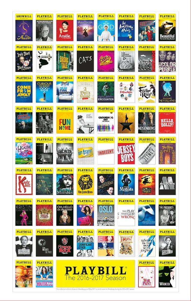 Broadway Season Playbill Poster 2016 - 2017 - Playbill Merchandise & Souvenirs | PlaybillStore.com