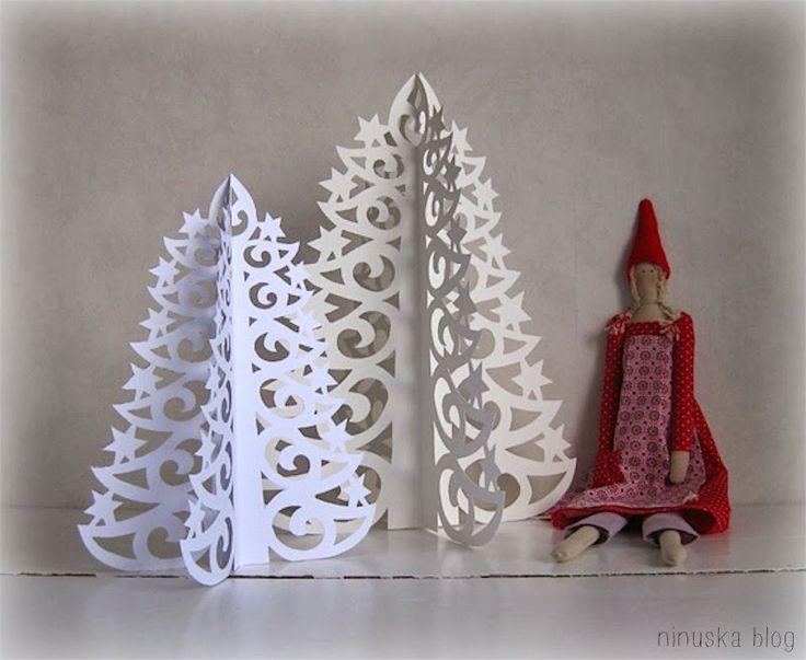 Tutorial per creare un alberello di Natale in cartoncino - Il blog italiano sullo Shabby Chic e non solo