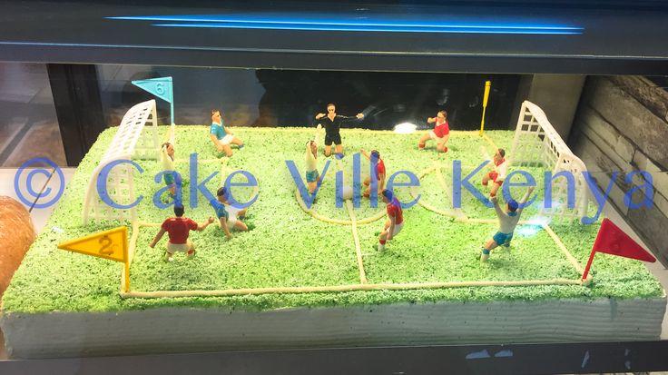 Soccer Pitch Cake :-)