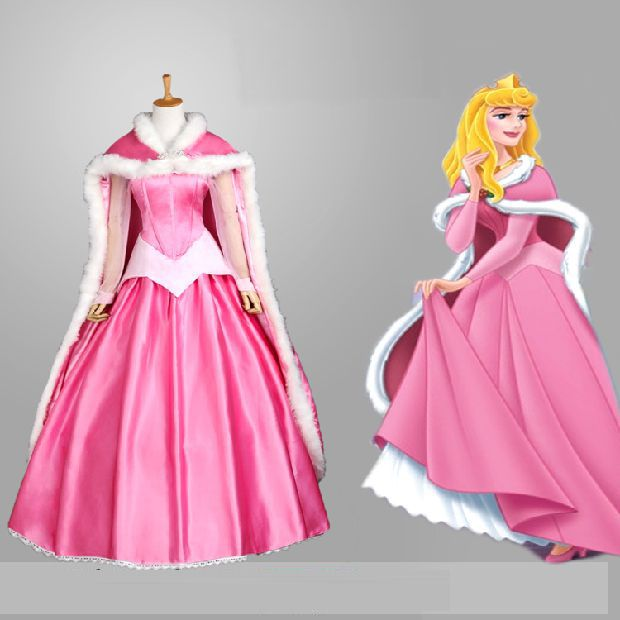 Fadas cauda de sereia traje cosplay para mulheres princesa trajes para adultos Bela Adormecida Aurora vestido Filme costume