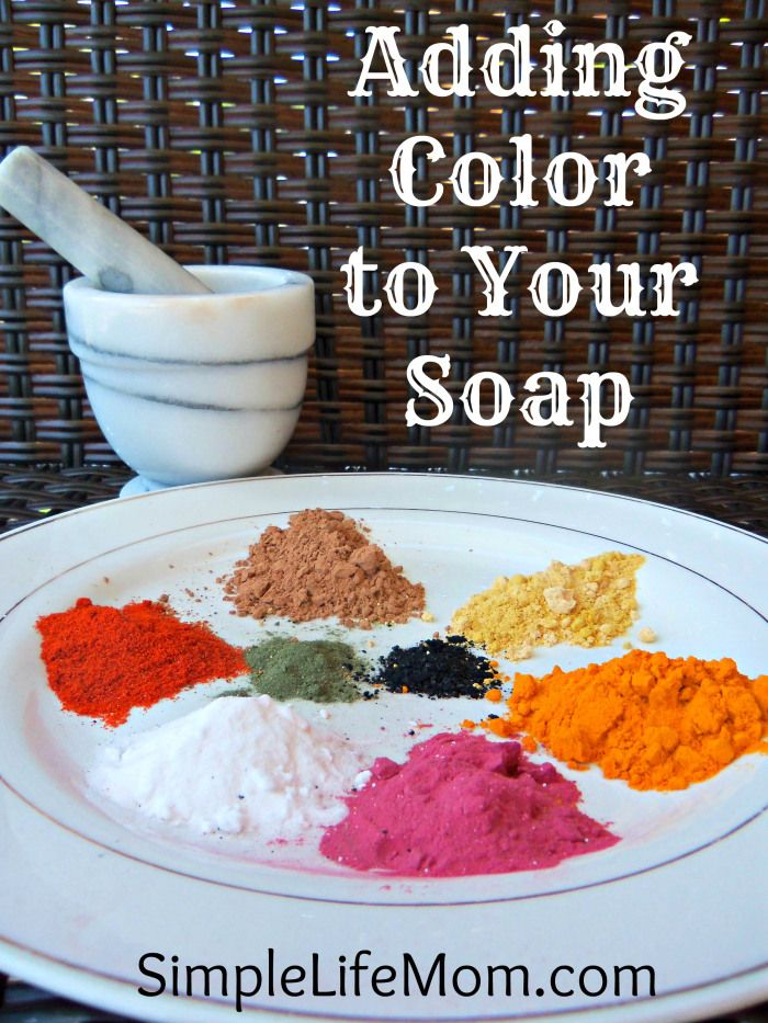 Adding Color to Your Soap - Natural, healthy, and non-toxic alternatives for adding color to your beautiful soap creations.