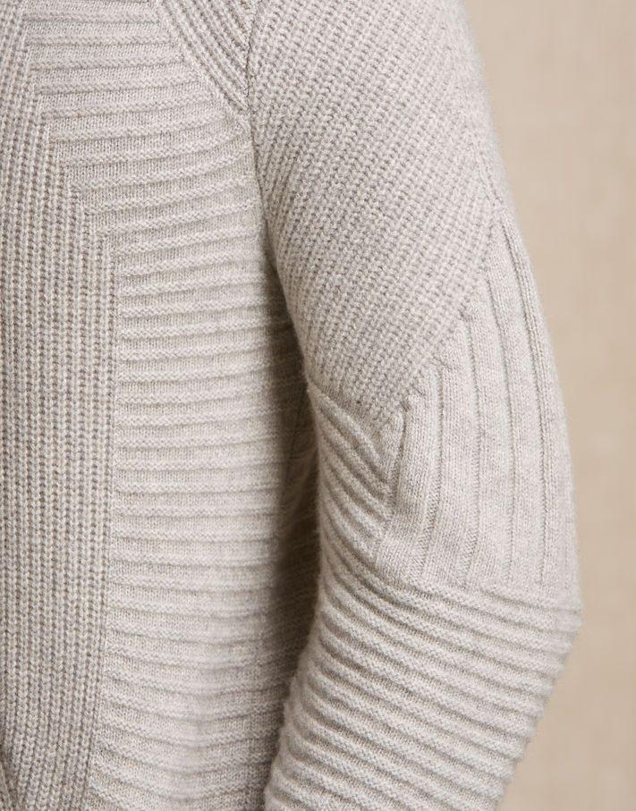 Littlehurst Jumper - Pale Grey Melange Cashmere Men's New In: