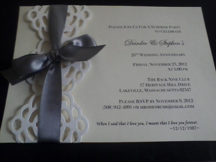 25th Wedding Invitations: 12 Best 25th Anniversary Invitations Images On Pinterest