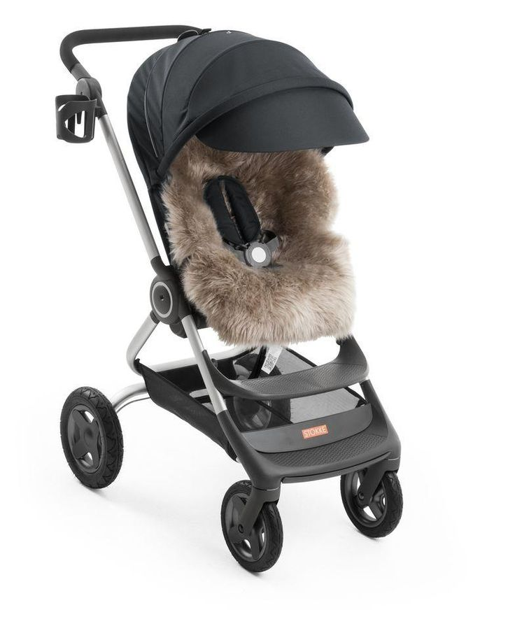 Stokke Sheepskin Lining with Stokke Scoot Stroller in Black – So chic & luxe