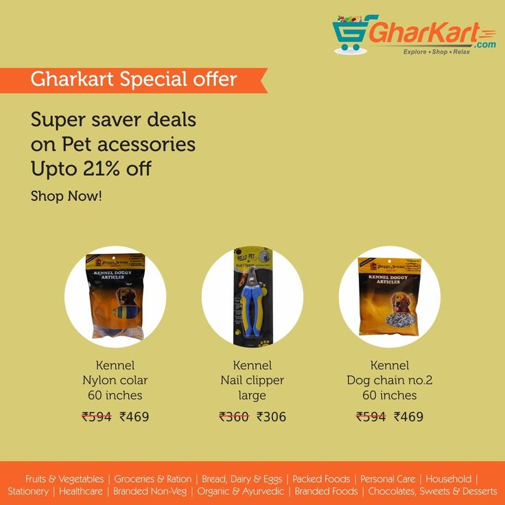 Amazing Super Saver Offers Only at Gharkart.com Shop pet accessories for your lovely pets at great discounts. Various brands now available at Gharkart. To know more about offers Visit: Gharkart.com Today! #Gharkart #Onlineshopping #Groceries ##PetAccessories FreeDelivery #FastDelivery #HomeDelivery