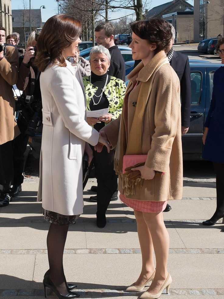 Crown Princess Mary and Jenni Haukio, 1st Lady of Finland April 4, 2013