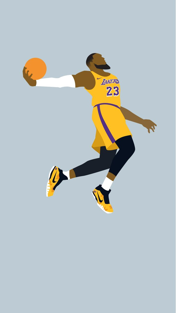 iPhone Wallpaper HD LeBron James LA Lakers