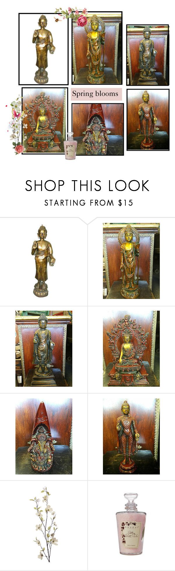 Antique Brass Statue by baydeals on Polyvore featuring interior, interiors, interior design, home, home decor, interior decorating, Pier 1 Imports and Nougat  http://stores.ebay.com/mogulgallery/BRASS-STATUES-/_i.html?_fsub=353416319&_sid=3781319&_trksid=p4634.c0.m322