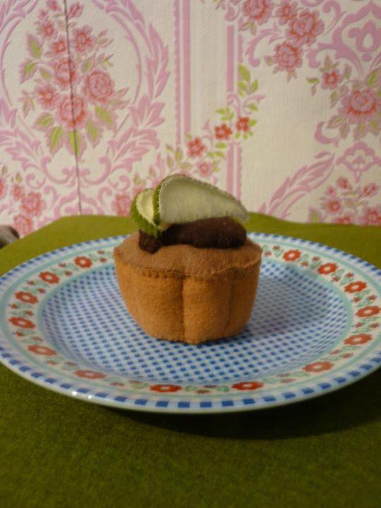 bloemencake met peer