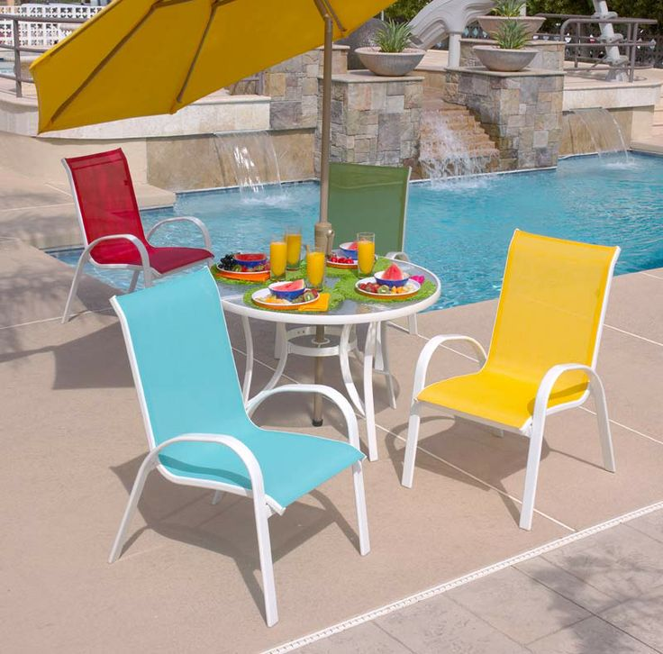 Catalina Sling Collection  Colorful Outdoor Furniture For Bright Sunny  Days. Love Outdoor Living With Foremost Furniture!