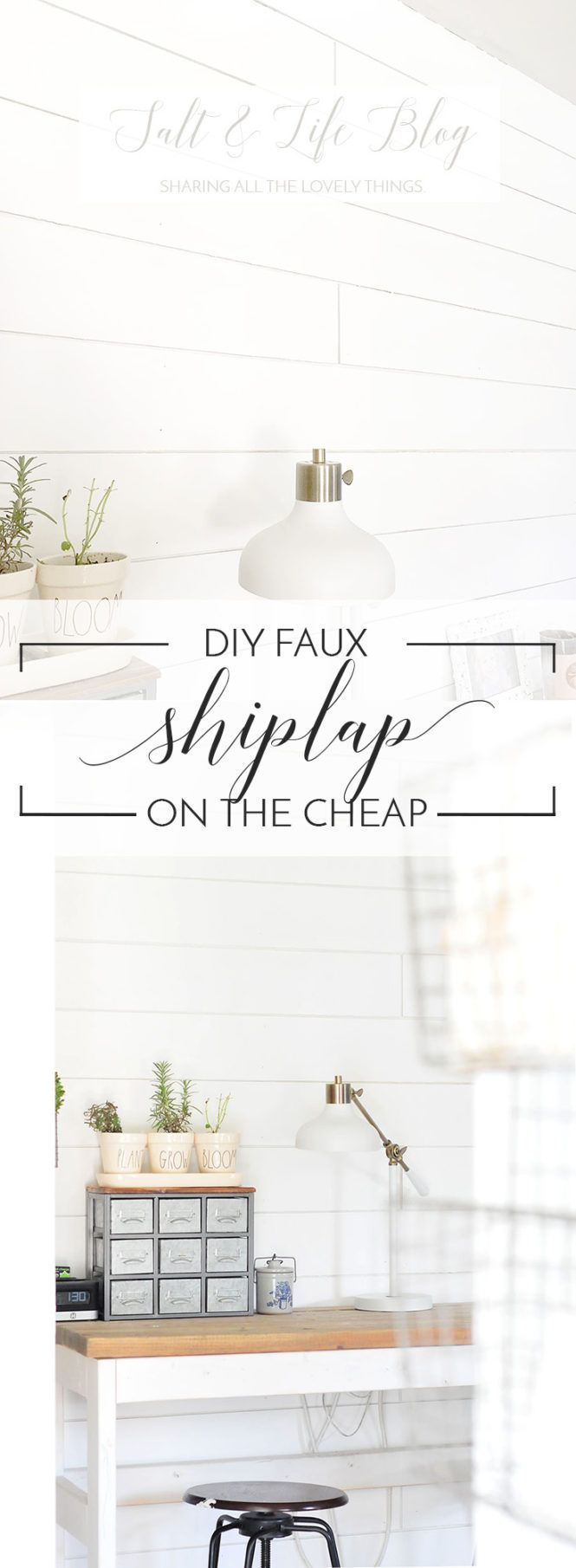 DIY Faux Shiplap on the Cheap | THE JUNQ DRAWER