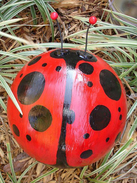 Lady Bug Bowling Ball Craft