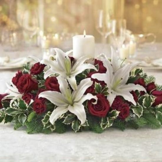 Christmas Wedding Flower Ideas: 285 Best Images About Christmas Flower Arrangements 2 On