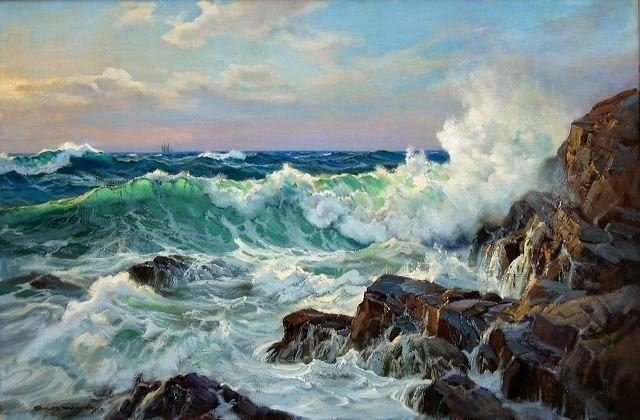 """Charles Vickery, una pasión por el mar """"Todos los colores del agua venir del cielo, porque cada color del cielo se refleja en el agua. Y el ..."""