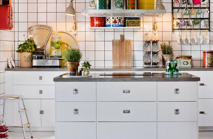 <3 Köksinspiration: helkaklade väggar sätter den industriella stilen - Sköna hem