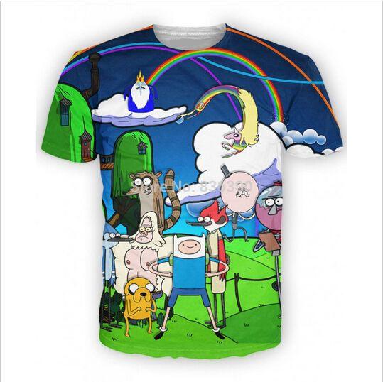 New Fashion Women/Men's cartoon adventure time Funny 3D Print Casual T-Shirt  #UnbrandedGeneric #GraphicTee