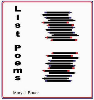 Write a List Poem for Poetry Month   A list poem where the title is the topic or a question and the rest of the poem is a list that fits the main idea. A list with a twist has a funny last line. To download the complete List Poems lesson plan please visit this post at Artistry of Education.  3-5 Mary Bauer Poetry writing